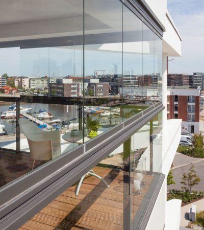 Objekt: Weser View, Lohmannstr. 26, Bremerhaven, gesamt 19 Wohnungen mit insgesamt 151 Brüstungen, 41 Modulen, 23 x SL25, (